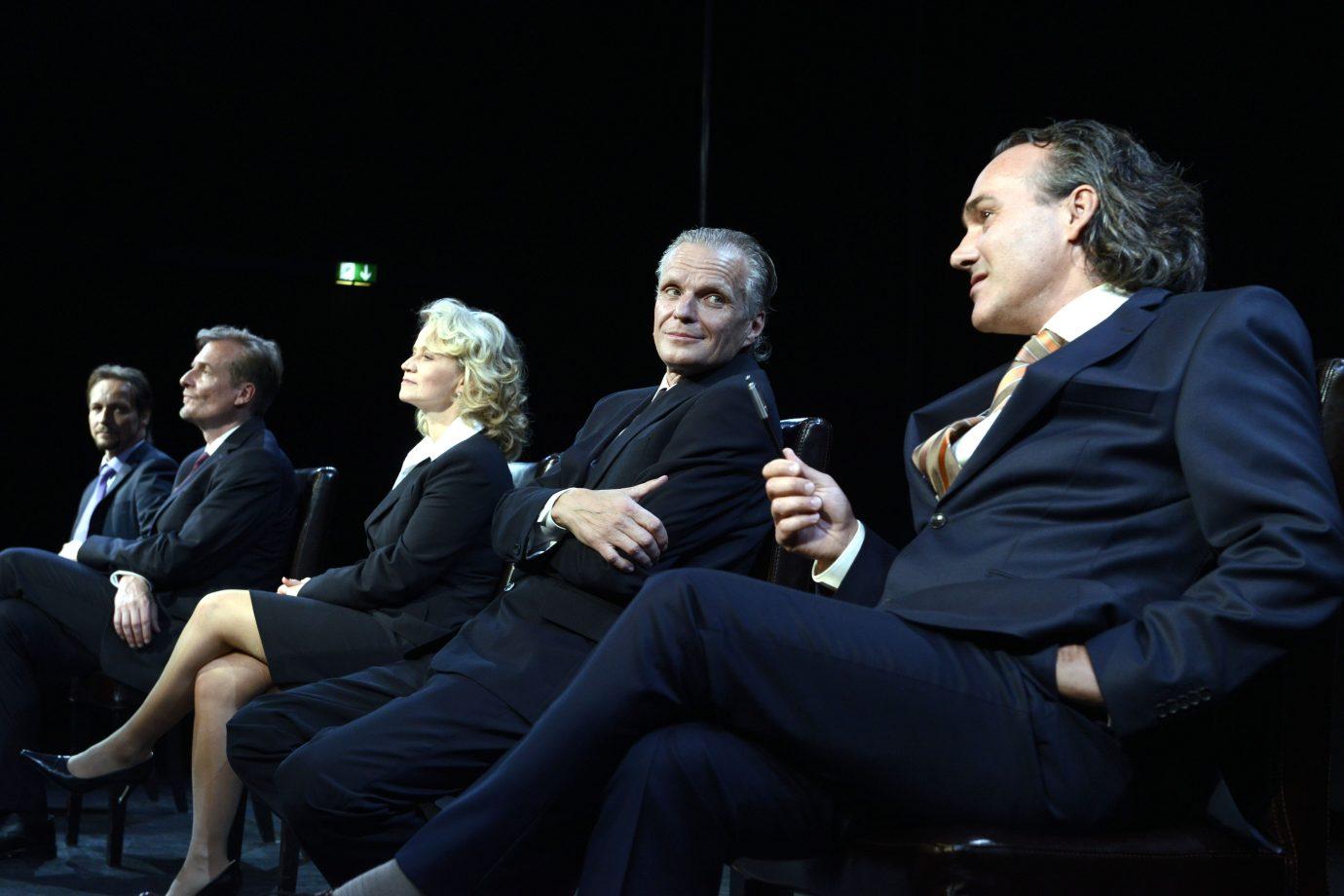 v.l. Maaß, Pohn, Kaminski, Ohmann, Bauer in DAS HIMBEERREICH © Bettina Müller